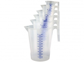 Messbecher Set 7-teilig 0,1/0,25/0,5/1/2/3/5 Liter
