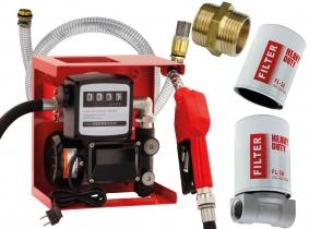 Dieselpumpe 230V komplett, 2m Saugschlauch, Dieselfilter-Set